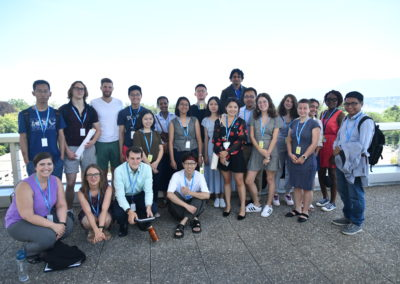 Students visiting the headquarters of WHO